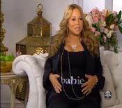 Mariah Carey embarazadísima en Home Shopping Network