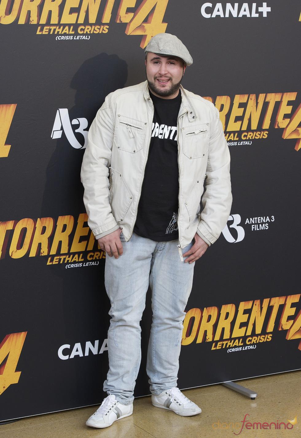 Paquirrín en el estreno de 'Torrente 4: lethal crisis'