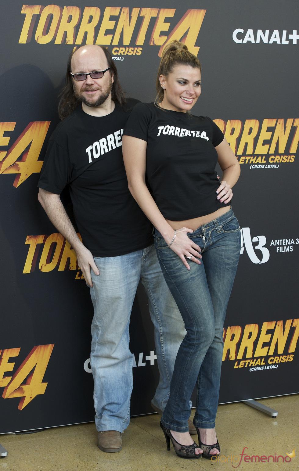 Santiago Segura y María Lapiedra en la presentación de 'Torrente 4: lethal crisis'