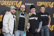 Santiago Segura, Paquirrín, María Lapiedra y Tony Leblanc en la presentación de 'Torrente 4'