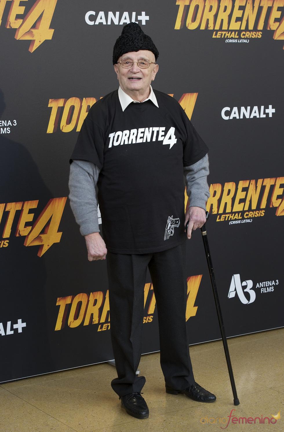 Tony Leblanc en la presentación de 'Torrente 4: lethal crisis'