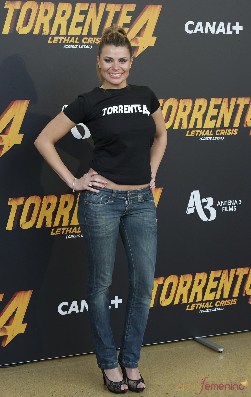 María Lapiedra en la presentación de 'Torrente 4: lethal crisis'