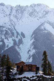 Vista del paisaje que rodea la casa del rodaje de 'Amanecer'