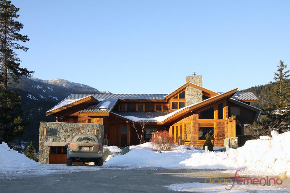Vista de la casa que compatirán Edward y Bella en el rodaje de 'Amanecer'