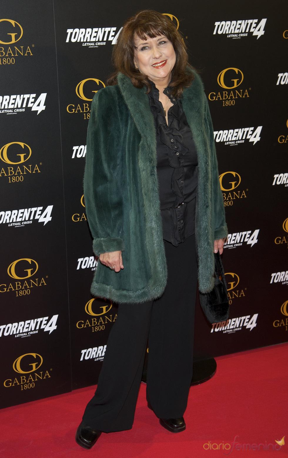 Soledad Mallol en el estreno de 'Torrente 4: lethal crisis'