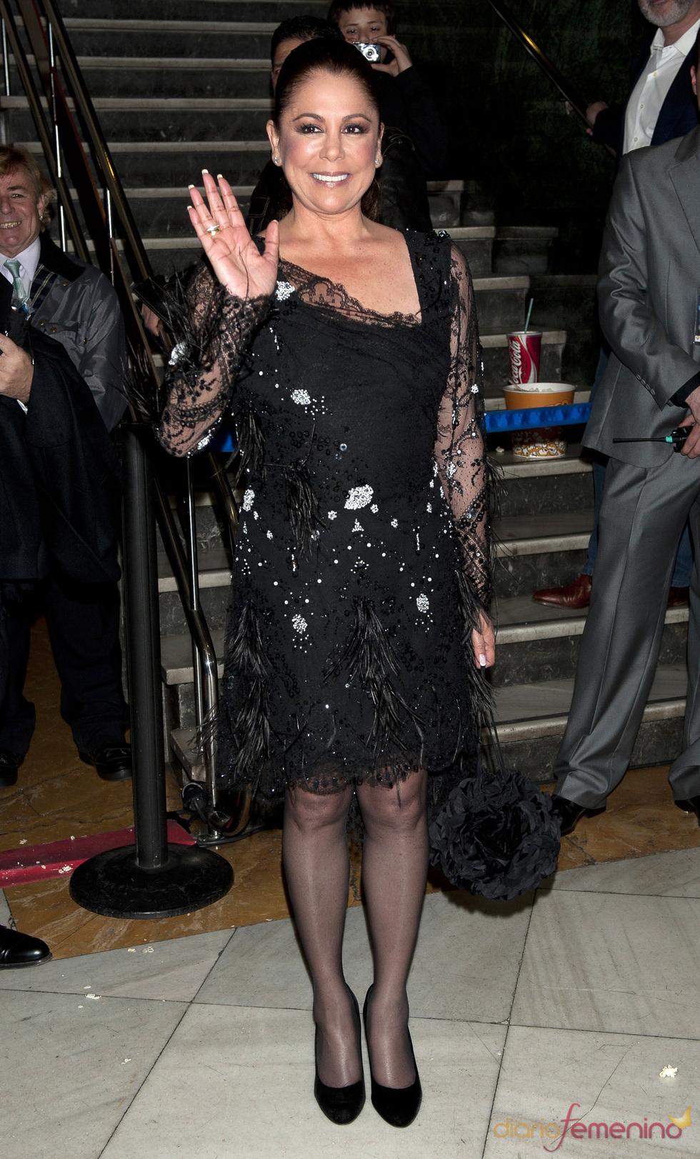Isabel Pantoja en el estreno de 'Torrente 4: lethal crisis'