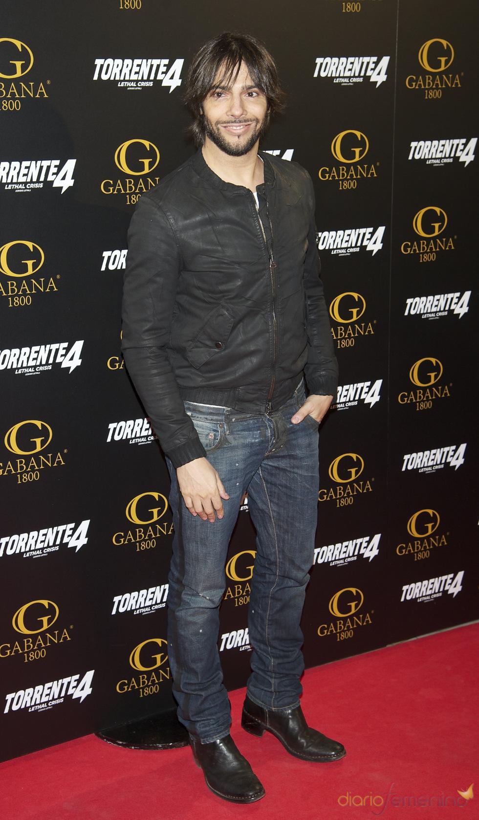 Joaquín Cortés en el estreno de 'Torrente 4: lethal crisis'