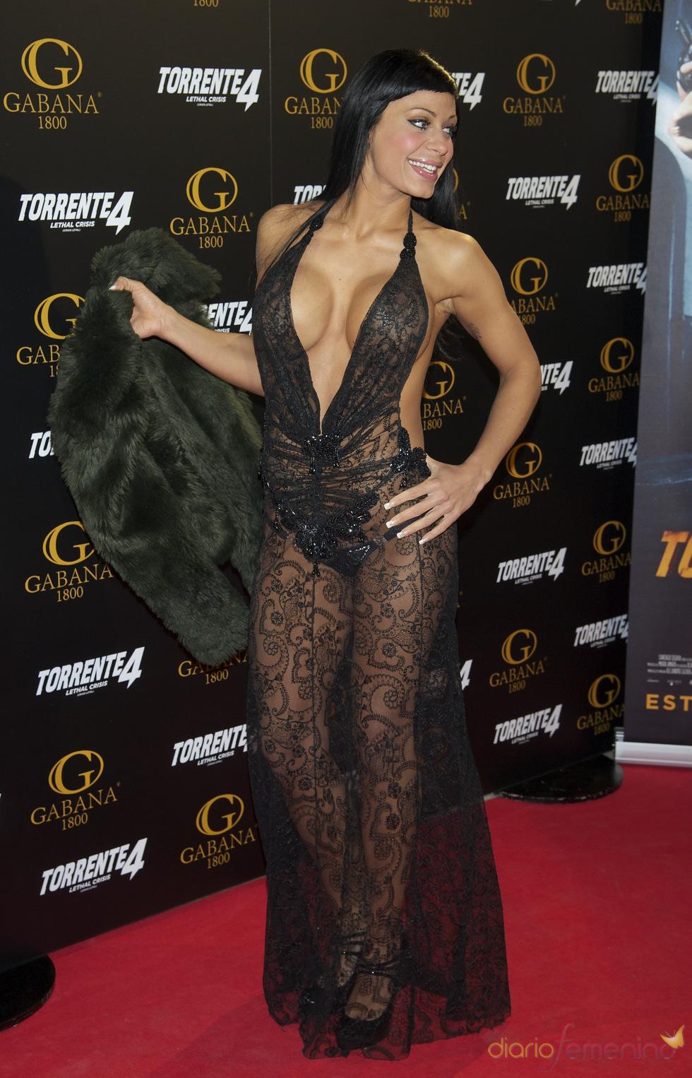 Tatiana Delgado en el estreno de 'Torrente 4: lethal crisis'