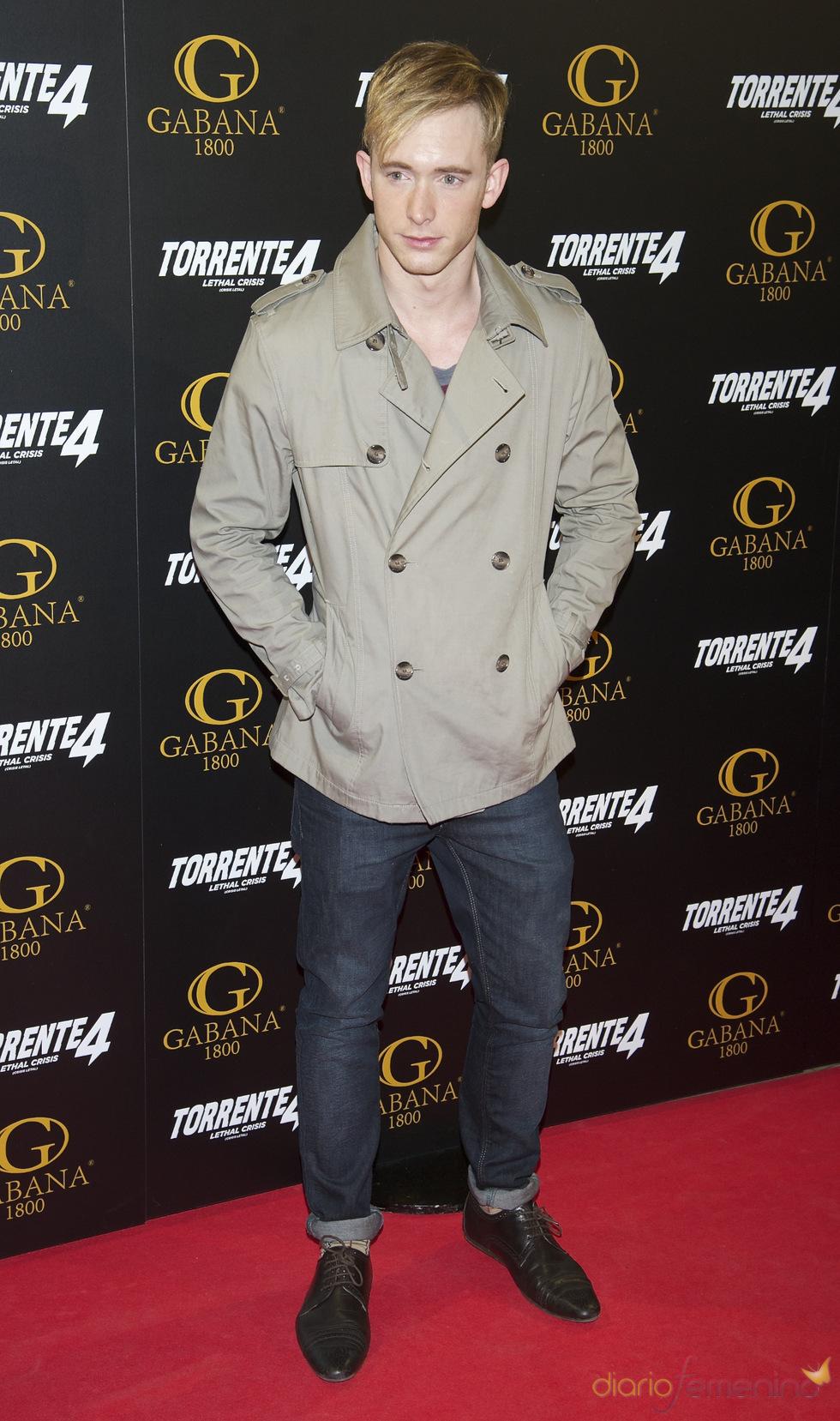 Pablo Rivero en el estreno de 'Torrente 4: lethal crisis'