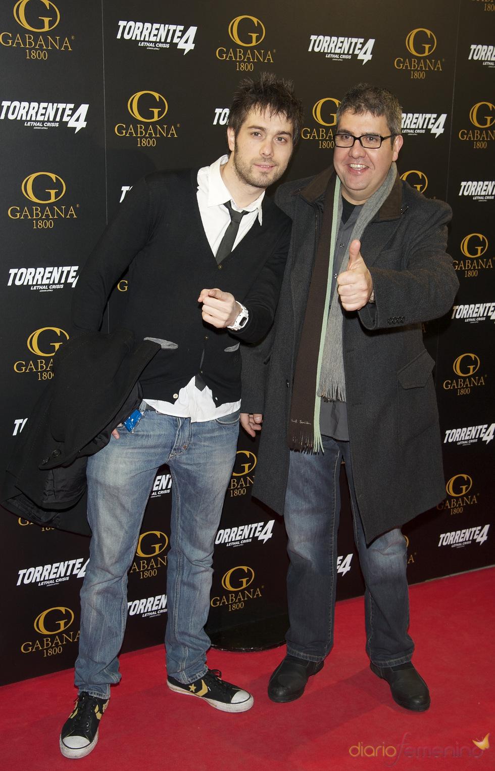 Dani Martínez y Florentino Fernandez en el estreno de 'Torrente 4: lethal crisis'