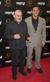 Jesús Bonilla y Jorge Sanz en el estreno de 'Torrente 4: lethal crisis'