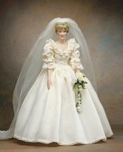 La muñeca Lady Di vestida de novia