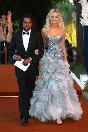 Adriana Karembeu y su recién ex marido Christian Karembeu