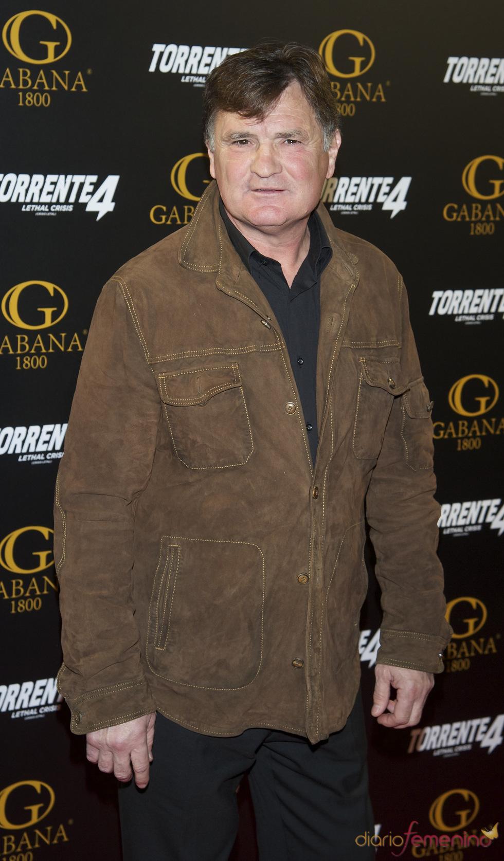 José Antonio Camacho en el estreno de 'Torrente 4: lethal crisis'