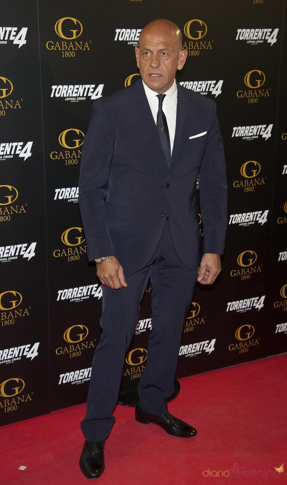 Kiko Matamoros en el estreno de 'Torrente 4: lethal crisis'