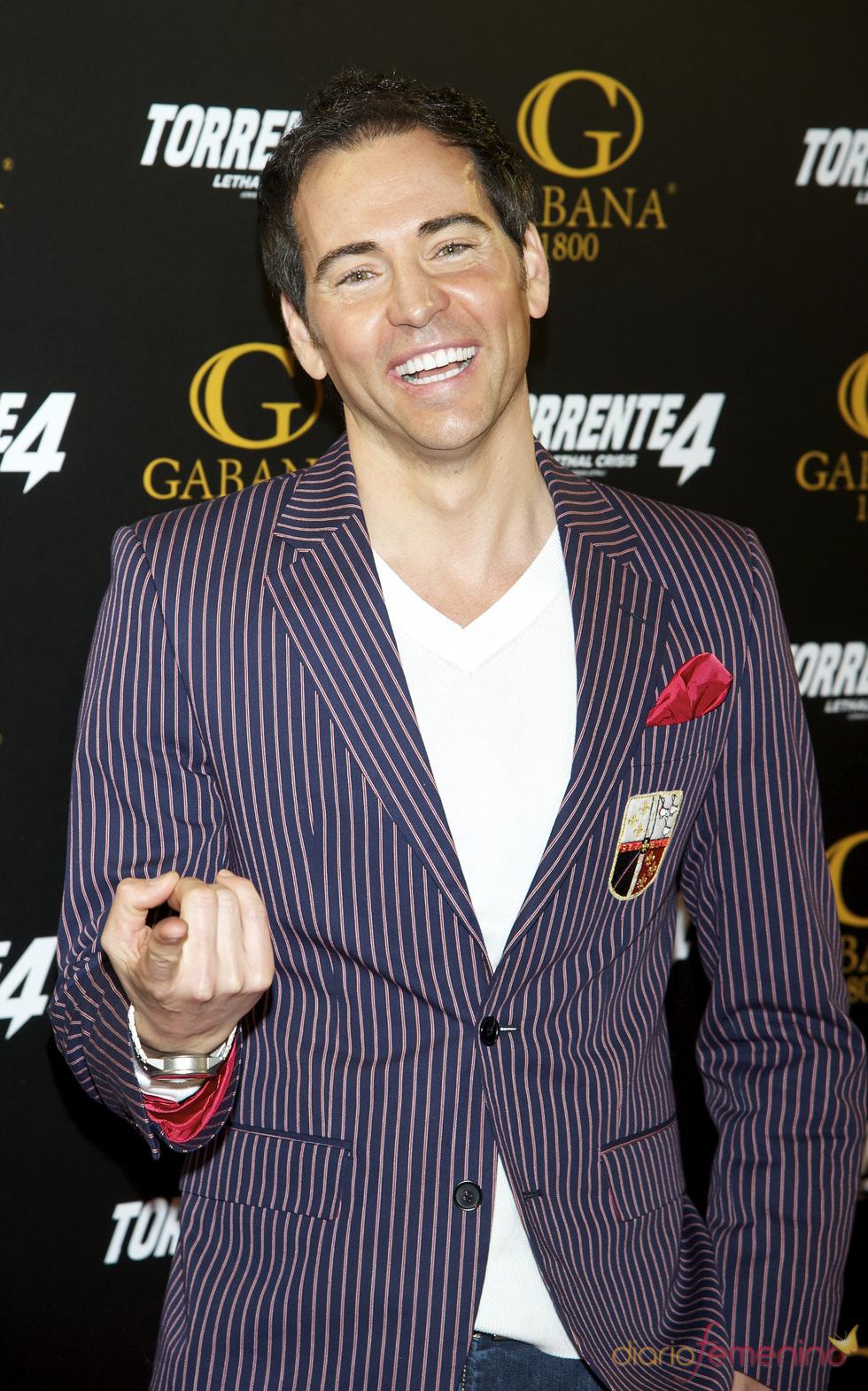 David Meca en el estreno de 'Torrente 4: lethal crisis'
