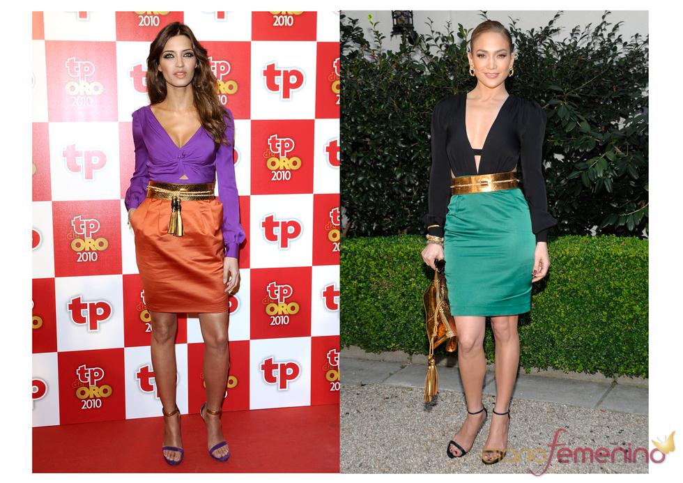 Sara Carbonero y Jennifer López vestidas de Gucci