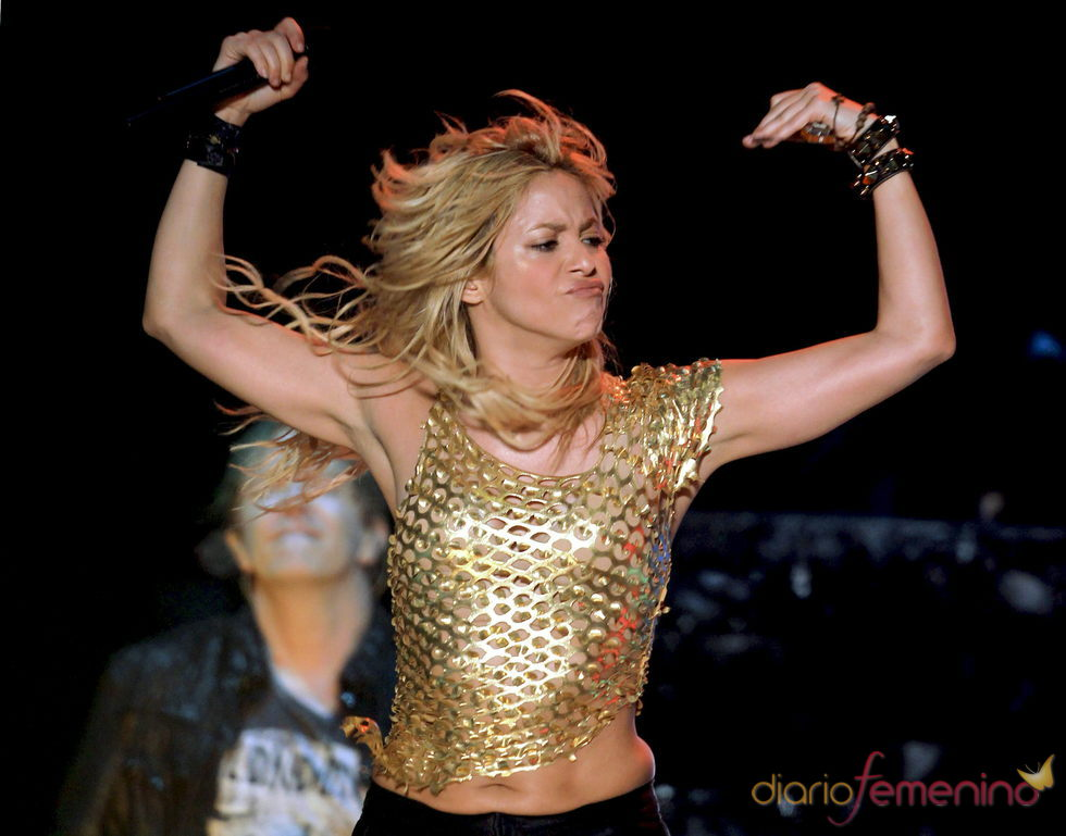 Shakira en un concierto de su gira 'Sale el sol'