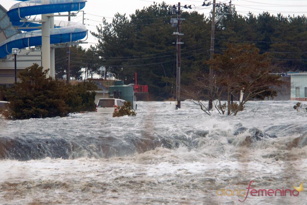 El agua se traga la costa noreste de Japón tras el terremoto