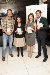 Joaquín Prat, Ana Rosa Quintana y Máxim Huerta en la presentación de su libro