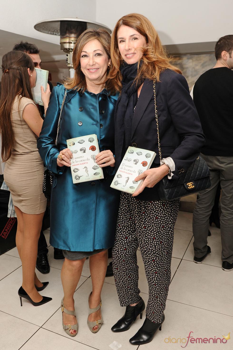 Ana Rosa Quintana y Ana García Siñeriz en la presentación del libro de Màxim Huerta