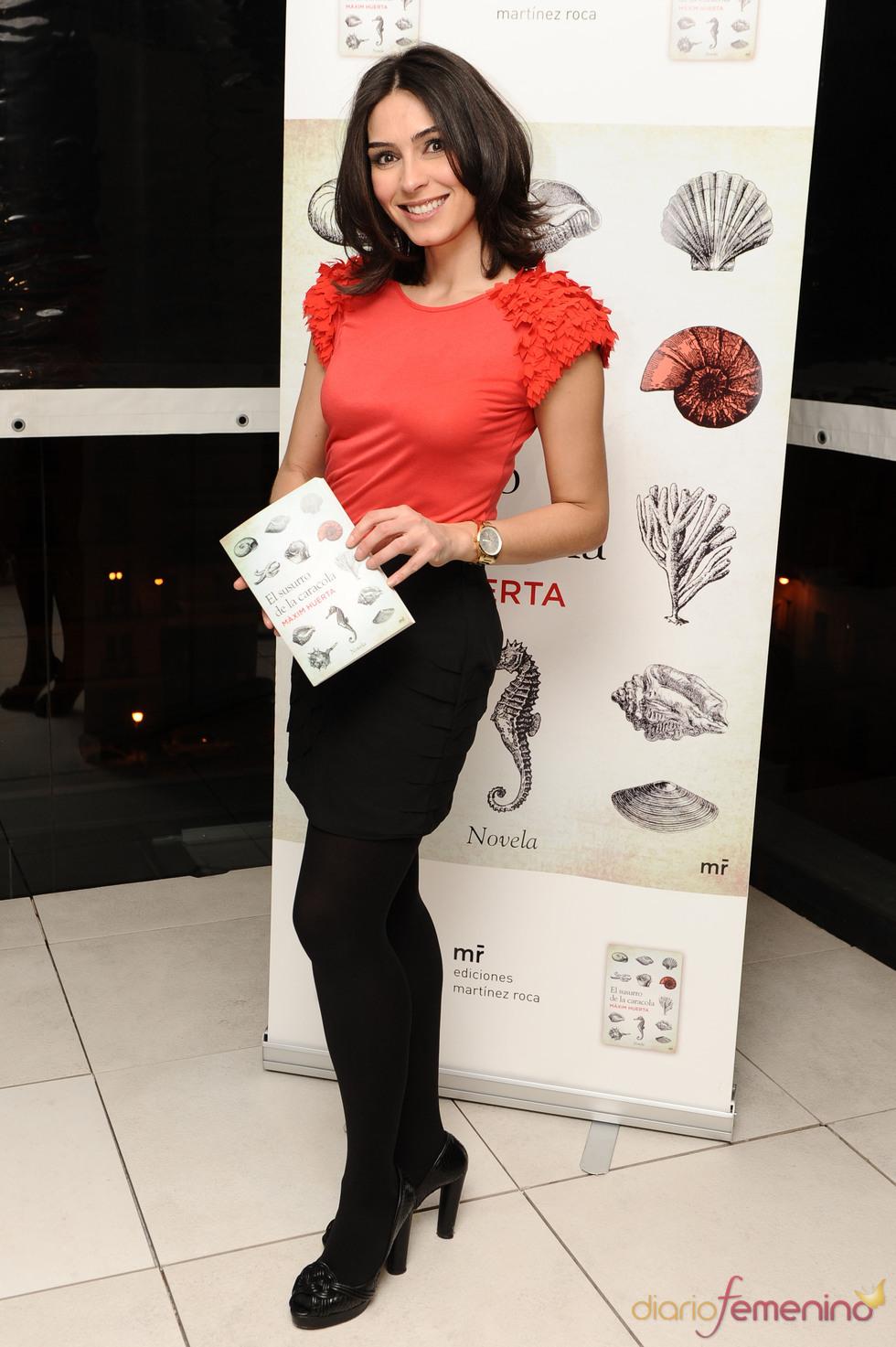 Marta Fernández en la presentación del libro de Màxim Huerta
