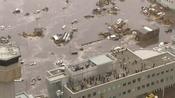 El aeropuerto de Senai, en Japón, inundado tras el tsunami