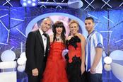 Mercedes Milá con Laura, Yago y Marcelo de 'Gran hermano 12'