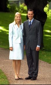 Mette-Marit y Haakon de Noruega el día de su pedida de mano