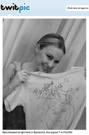 Kylie Minogue regala una camiseta al fan mejor vestido