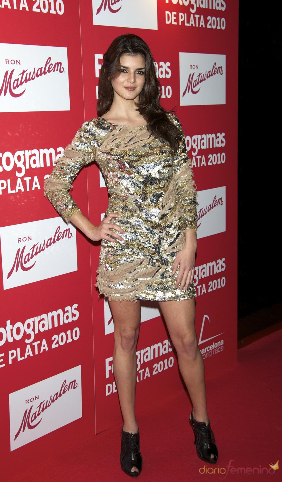 Clara Lago en los Premios Fotogramas de Plata 2010