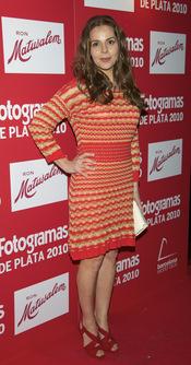 Miriam Gallego en los Premios Fotogramas de Plata 2010