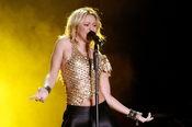 Shakira en su concierto en Santiago de Chile