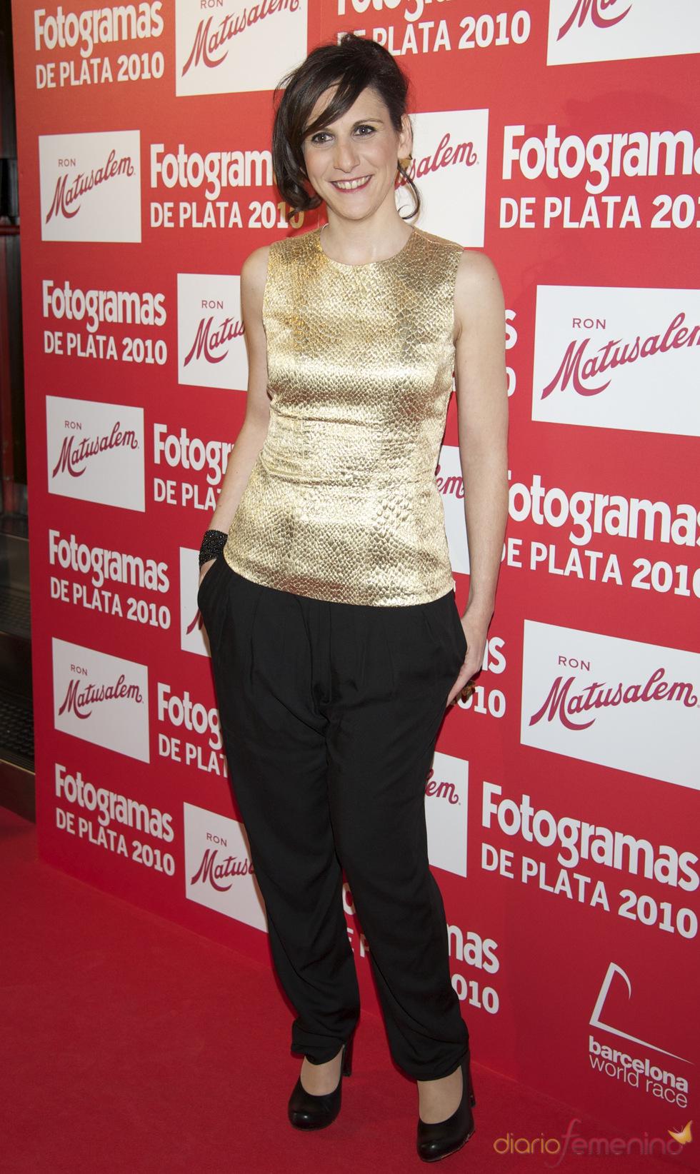 Malena Alterio en los Premios Fotogramas de Plata 2010