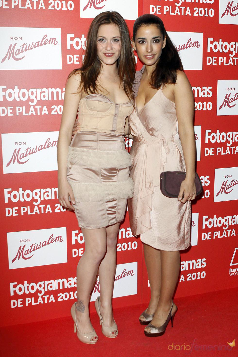 María León e Inma Cuesta en los Premios Fotogramas de Plata 2010