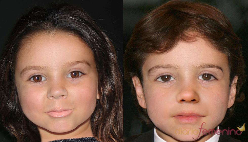Fotomontaje de Leo Encinas Cruz y la hija de David y Victoria Beckham
