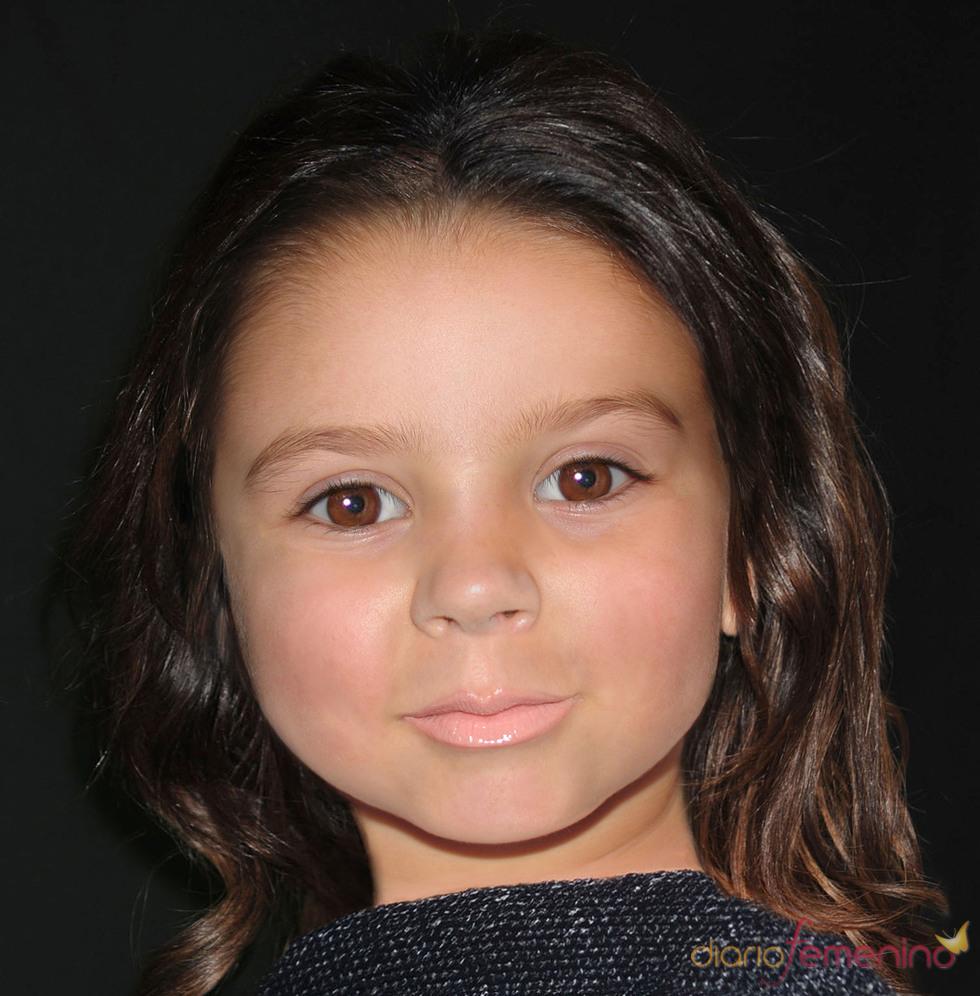 Fotomontaje de la hija de David y Victoria Beckham
