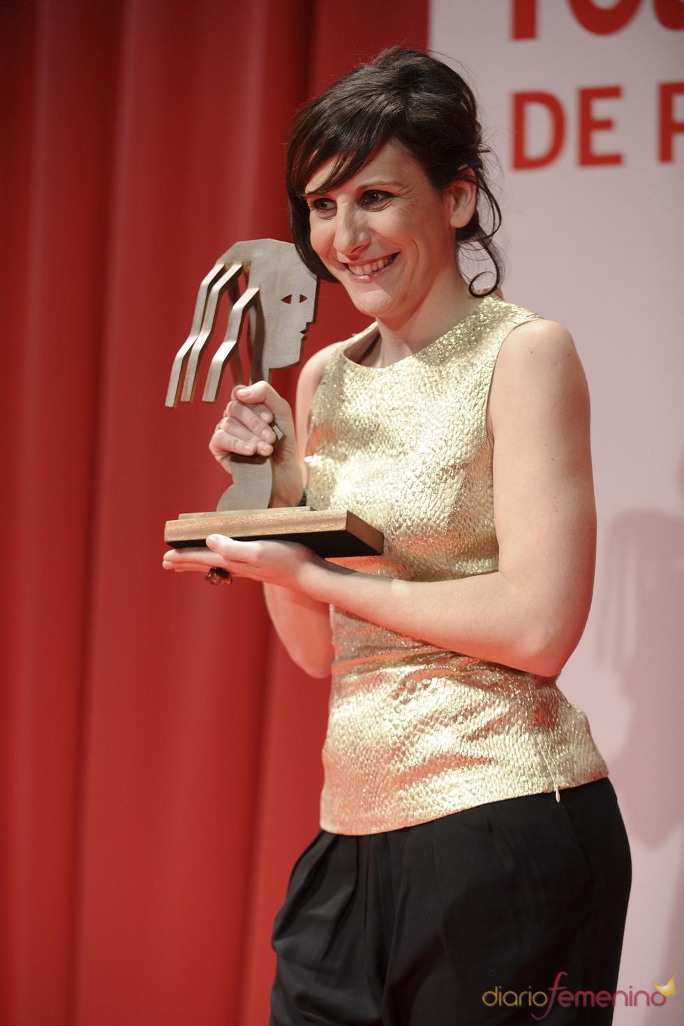 Malena Alterio con su Fotogramas de Plata 2010