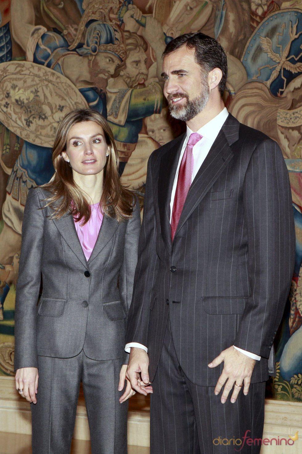 Los Príncipes de Asturias en el Palacio de la Zarzuela