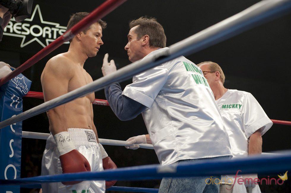 Mark Wahlberg durante el rodaje de 'The Fighter'
