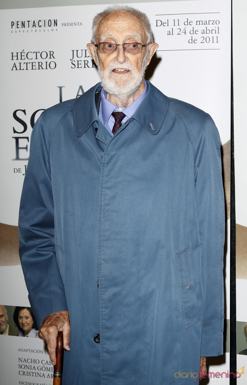José Luis Sampedro, protagonista en el estreno de 'La sonrisa etrusca'