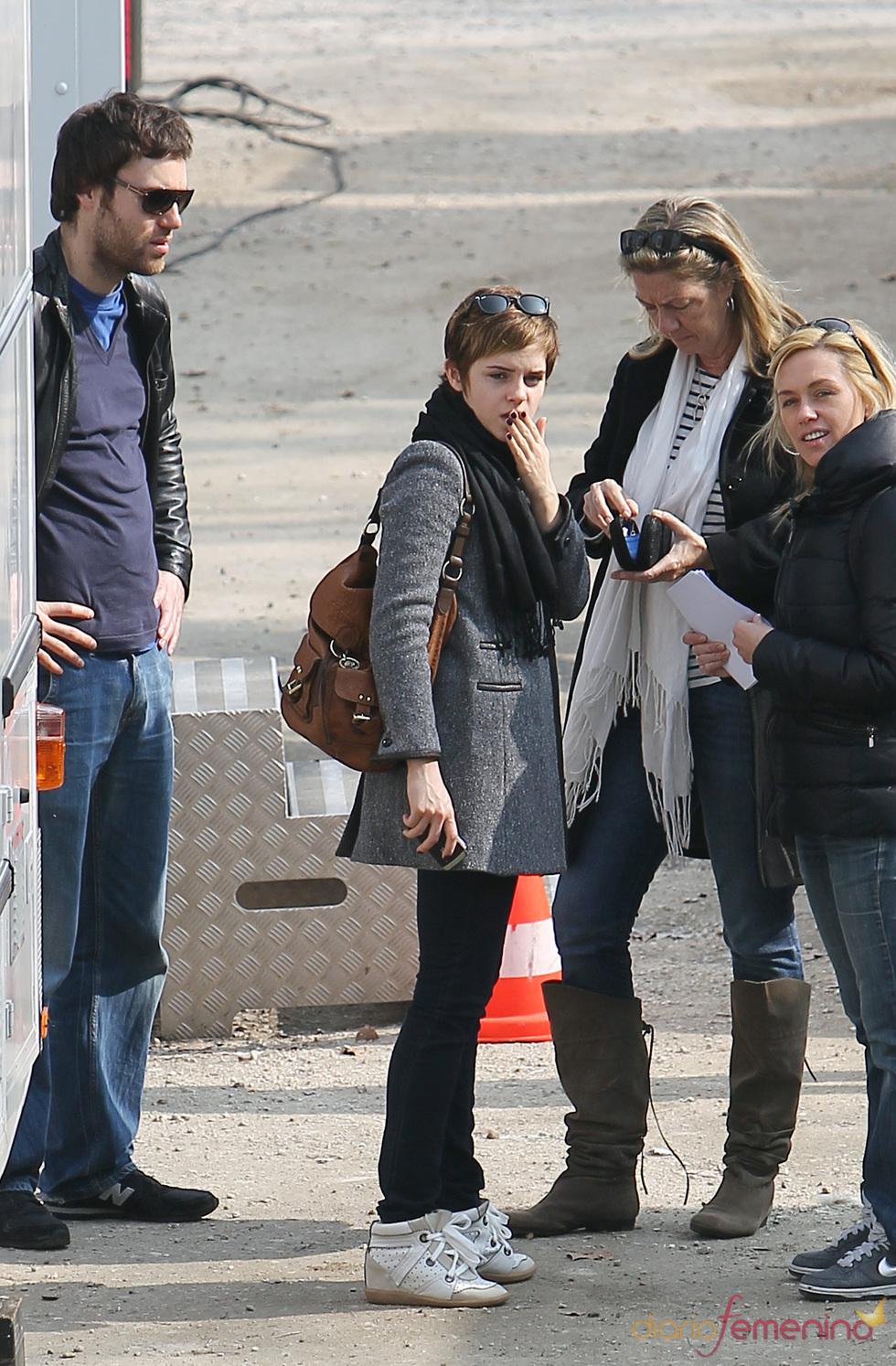 Emma Watson enssaya para el anuncio de Lancome