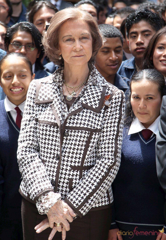 La Reina Sofía durante su visita a Quito