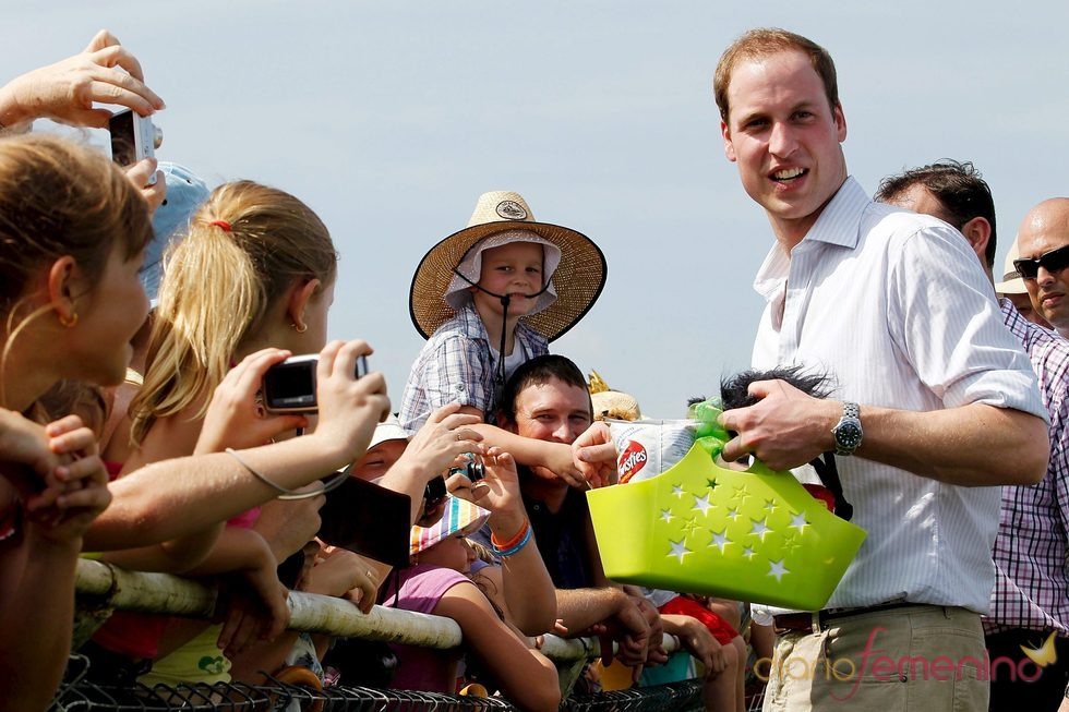 El Príncipe Guillermo durante su viaje a Australia