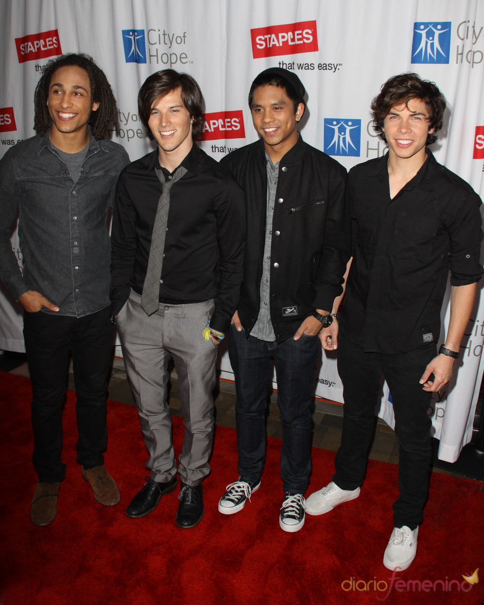 La banda Allstar Weekend en el 'Hope Concert'