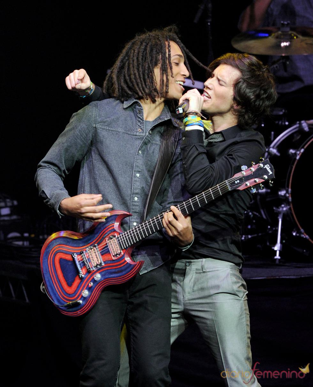Nathan Darmody y Zach Porter en el 'Hope Concert'