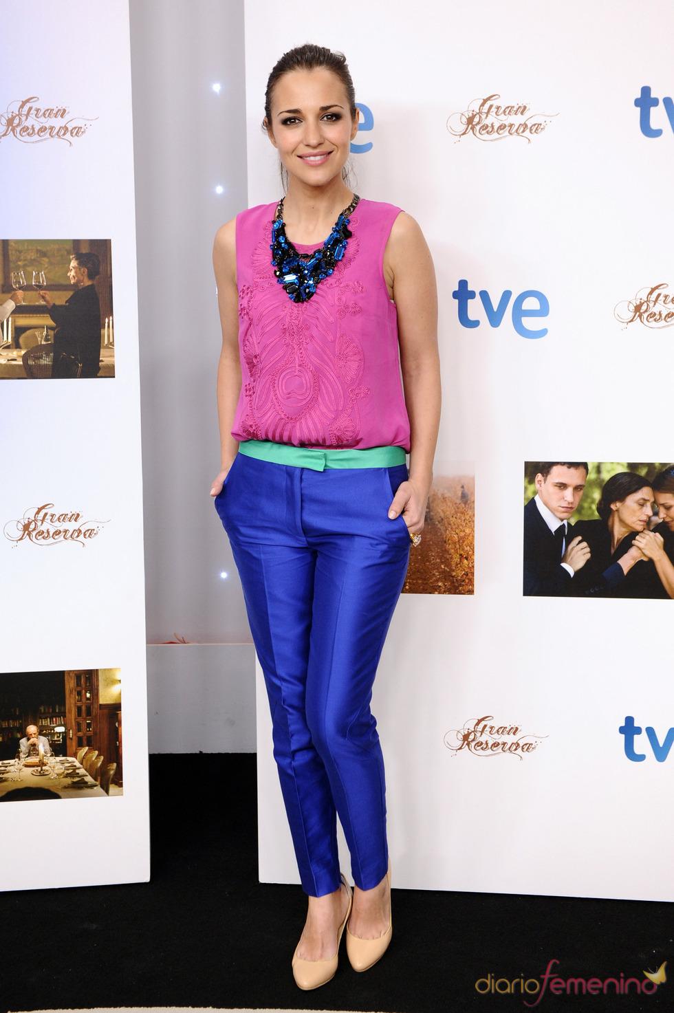 Paula Echevarría en la presentación de la segunda temporada de 'Gran Reserva'