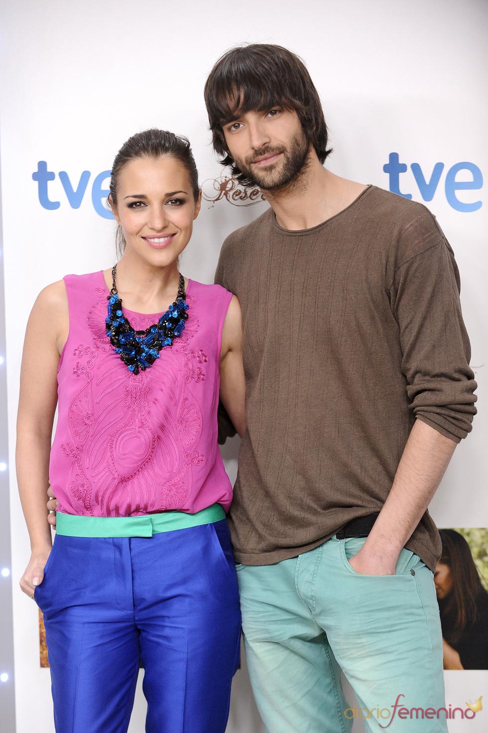 Aitor Luna y Paula Echevarría en la presentación de la segunda temporada 'Gran Reserva'