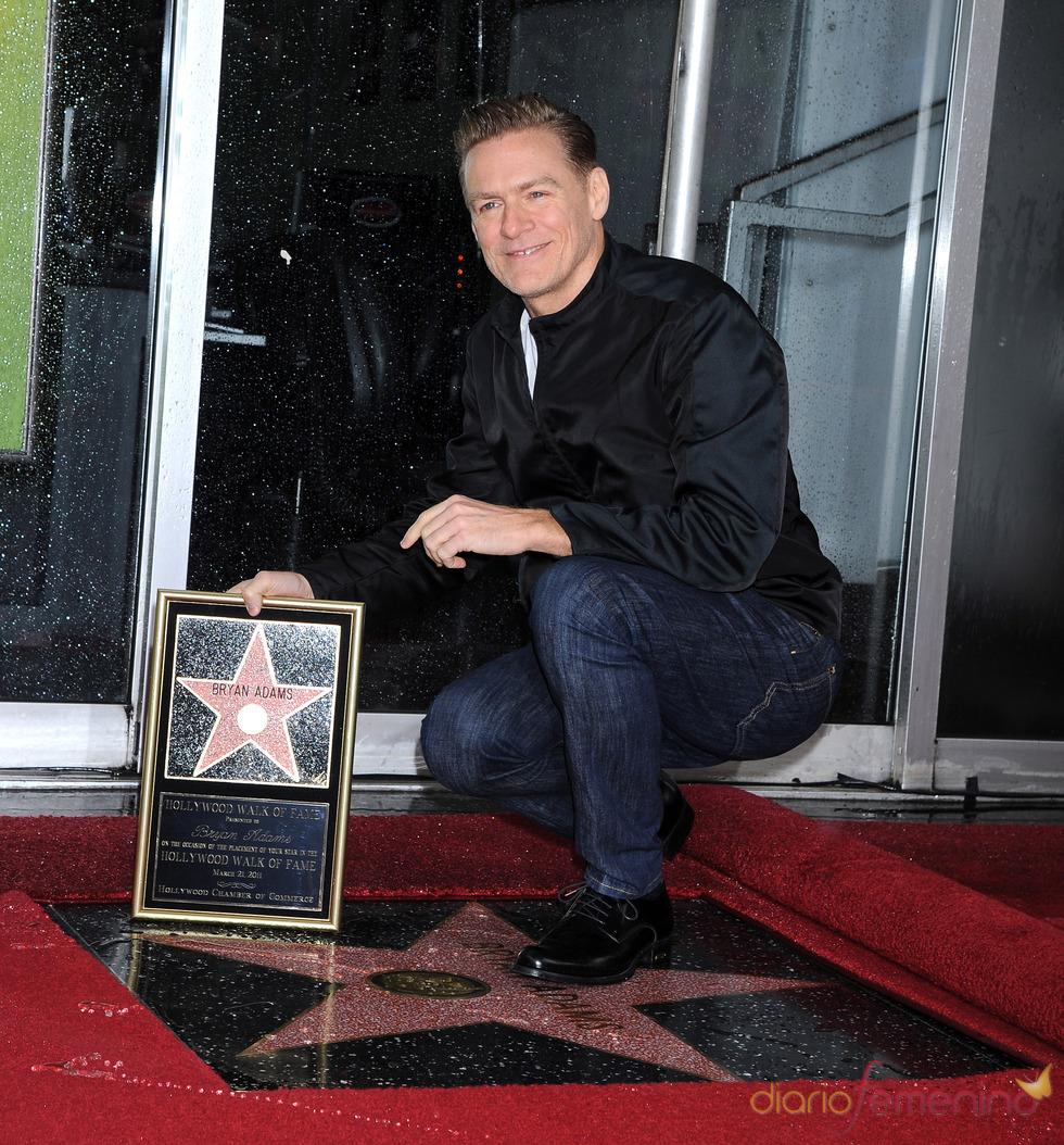Bryan Adams ya tiene estrella en el Paseo de la Fama
