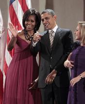 Barack Obama y Michelle Obama acuden a una cena oficial en Chile